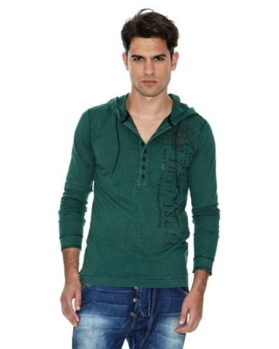 Salsa Camiseta Capucha Verde