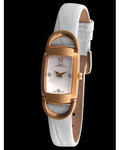 Sandoz 71594-60 - Reloj Diamonds Dial piel grabada blanco