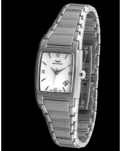 Sandoz 81238-03 – Reloj St. Thomas con diamantes dial blanco