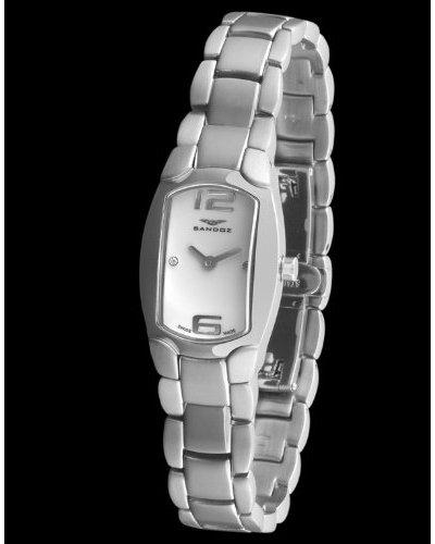Sandoz 73508-00 - Reloj Señora Diamonds Brazalete Acero Dial Blanco