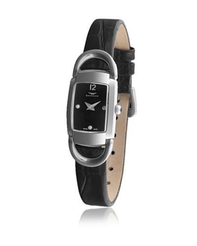 Sandoz 71592-05 - Reloj Diamonds Dial Piel Grabada Negro