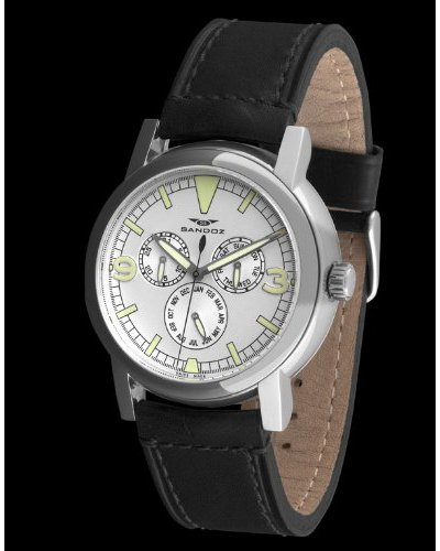 Sandoz 72531-08 - Reloj Col. Diver Crono. piel negro / blanco