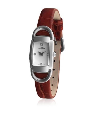 Sandoz 71592-00 – Reloj Diamonds Dial Piel Grabada Marrón