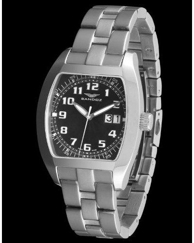 Sandoz 72542-05 - Reloj Col. Diver Con Fecha Plata / Negro
