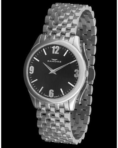 Sandoz 73519-05 - Reloj Col. Diver Unisex Acero plata / chocolate