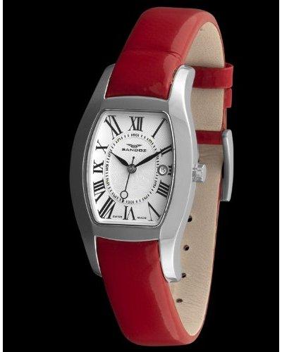 Sandoz 72556-02 - Reloj De Señora Con Indicador De Fecha Rojo