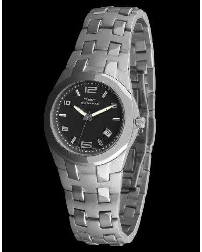 Sandoz 71568-06 - Reloj Col. Diver Acero Sumergible plata / negro