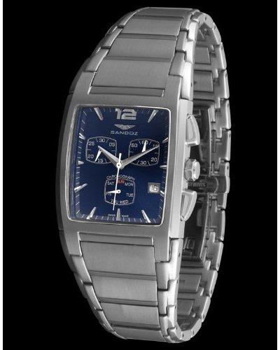 Sandoz 81267-03 - Reloj de caballero acero plata
