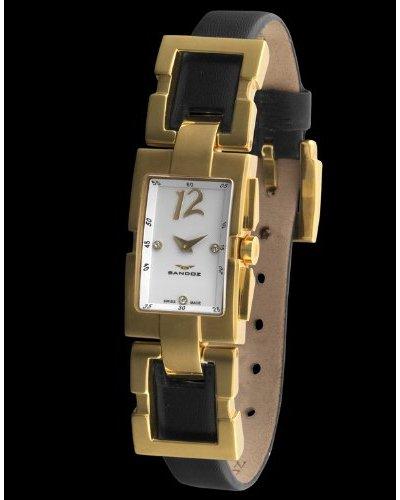 Sandoz 73504-60 - Reloj Col. Diver Unisex Rectangular Negro / Oro