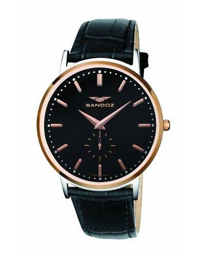 Sandoz Portobello Collection - Reloj de caballero piel negro
