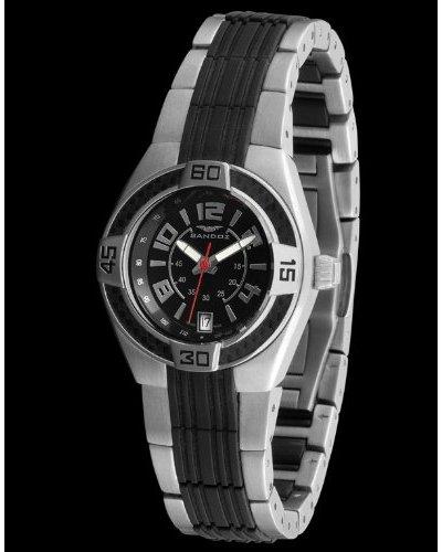 Sandoz 71570-05 - Reloj Fernando Alonso Señora Correa Metálica Dial Negro