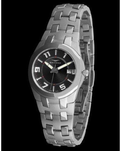 Sandoz 71568-05 - Reloj Col. Diver Acero Sumergible brazalete metálico dial Negro