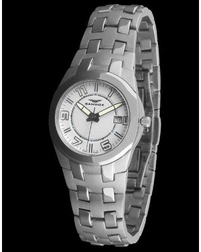 Sandoz 71568-00 - Reloj Col. Diver Acero Sumergible brazalete metálico dial Blanco
