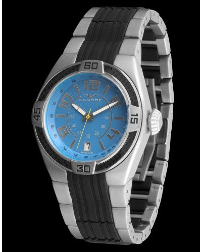 Sandoz 71553-03 – Reloj Fernando Alonso Caballero plata / azul