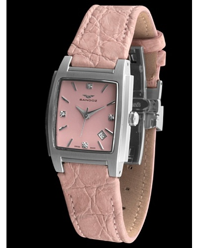 Sandoz 81240-07 – Reloj St. Thomas con diamantes dial rosa
