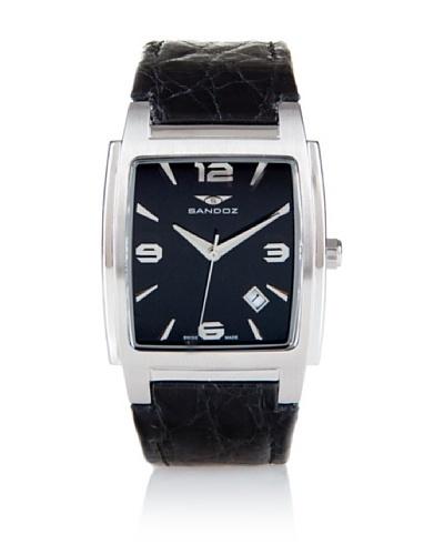 Sandoz 81265-05 – Reloj Unisex Movimiento de Quarzo Con Correa de Piel Negro