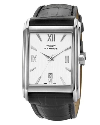 Sandoz - Reloj de caballero piel negro