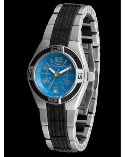 Sandoz 71570-03 – Reloj Fernando Alonso Señora Correa Negra Dial Turquesa