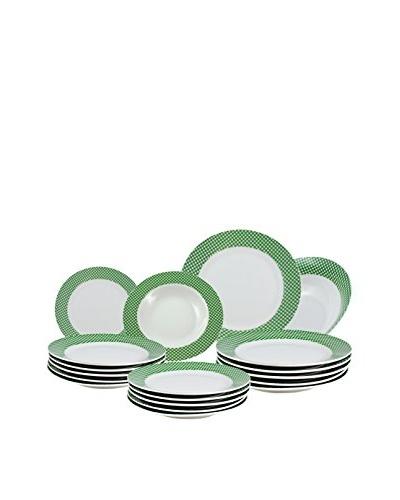 SANTA CLARA Vajilla Vichy Verde