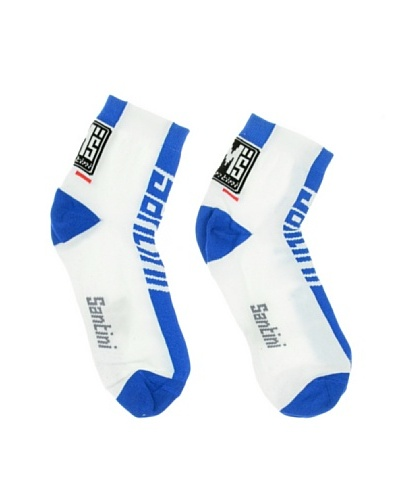 Santini Calcetines Estivo Blanco / Azul