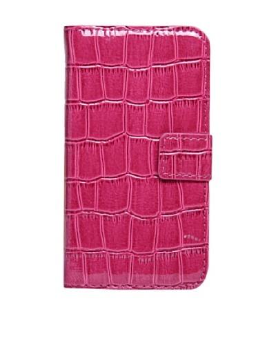 Carcasa De Carpeta Para iPhone 4/4s, Rosa Textura Cocodrilo
