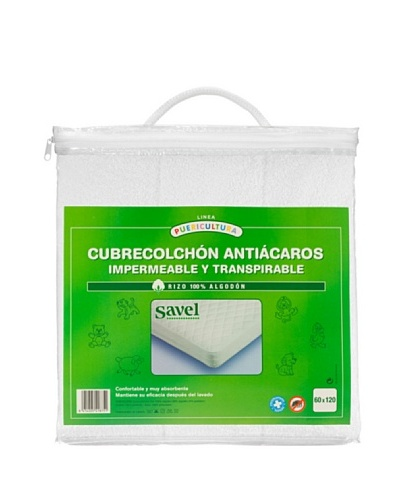SAVEL Cubrecolchón Rizo Impermeable Transpirable Bebé