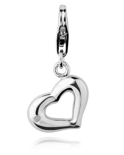 Secret Diamonts Charm Corazón Plata 925 Diamante 60250003 Única
