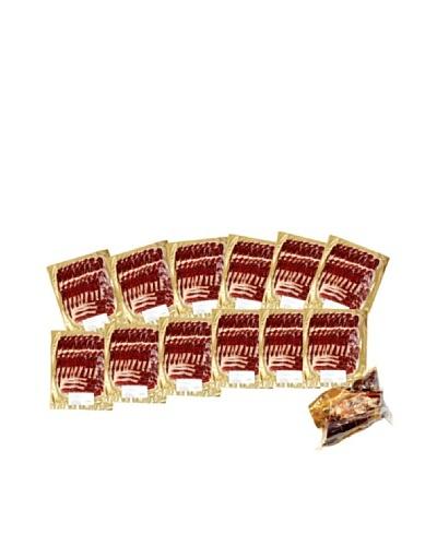 Monte Regio Jamón Ibérico Jabugo loncheado 12 sobres con codillo y regalo set de 12 cuchillos y DVD