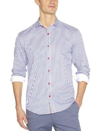 Selected Camisa Felix Azul Marino / Blanco