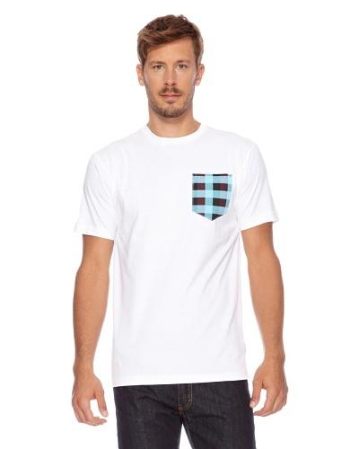 Seventy seven Camiseta Check Printed Pocket Blanco