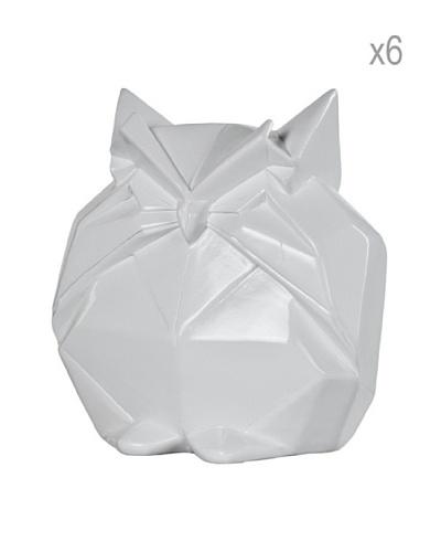 Sia Home Fashion Set de 6 Figuras Búho Origami