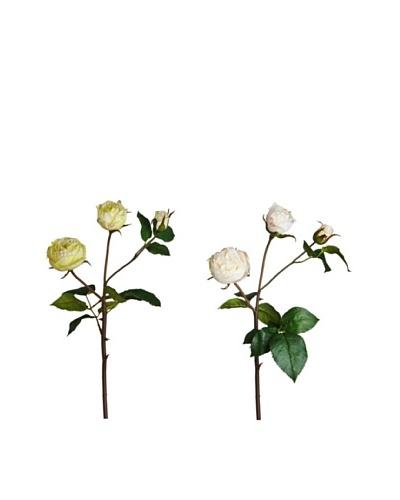 Sia Home Fashion Set de 12 Ramas 3 Rosas Spray