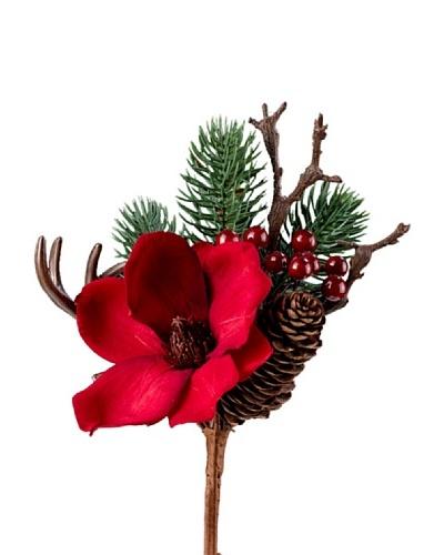 Silea Bouquet Magnolia Y Pino Rojo
