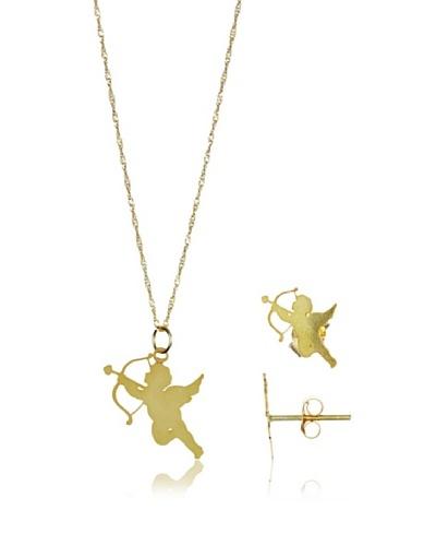 Silver Lux Juego Cupido Oro