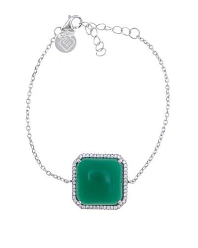 Silver Luxe Pulsera Luxe & Diamantado Verde