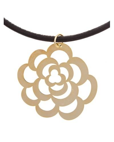 Silver Luxe Collar Flor en Oro