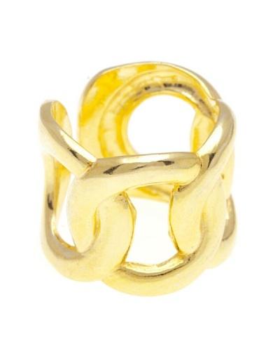 Silver Luxe Anillo Lerue Baño Oro