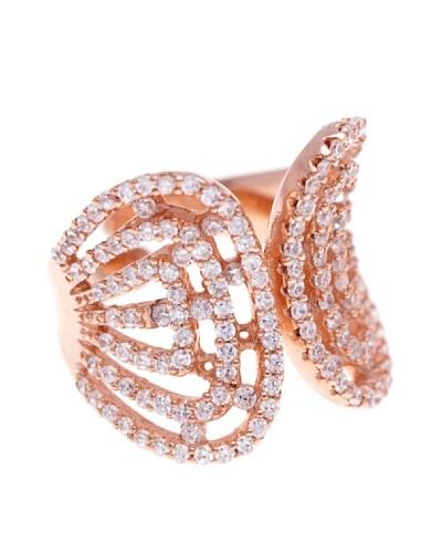 Silver Luxe Anillo Princess Zirconium & Oro Rosa