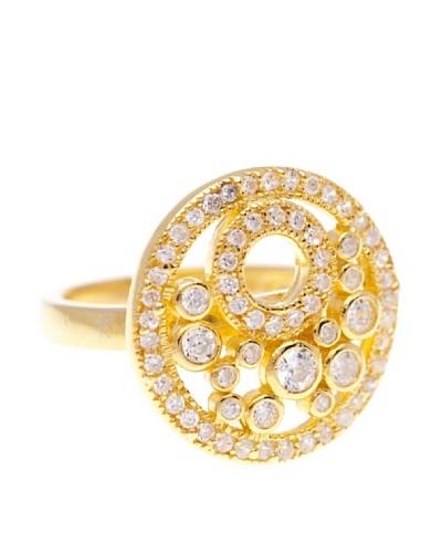 Silver Luxe Anillo Diamantada Zirconium