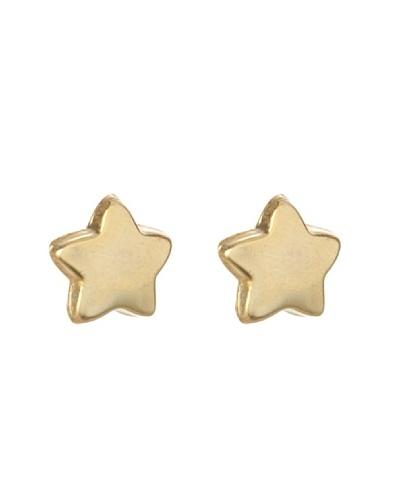 Silver One Pendientes Estrella Oro