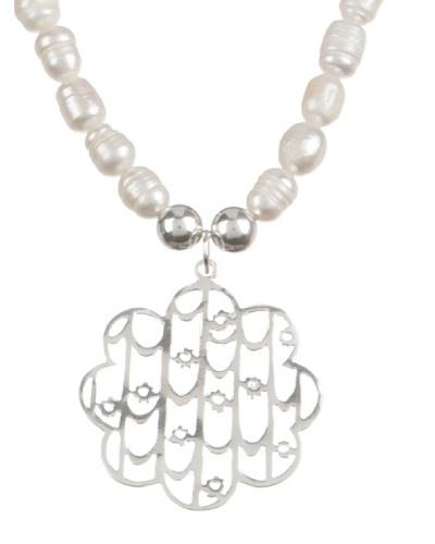 Silver One Collar Mezquita Perlas