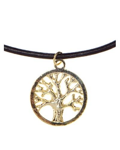 Silver One Gargantilla Árbol de la Vida en Oro