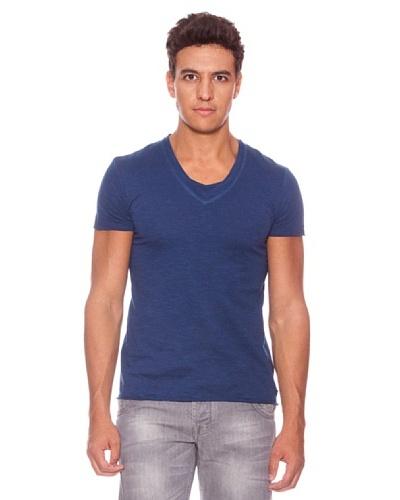 Camiseta Con Pico Manga Corta Minnesota Azul