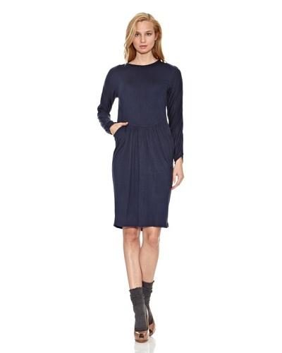 Siyu Vestido Básico Azul Marino