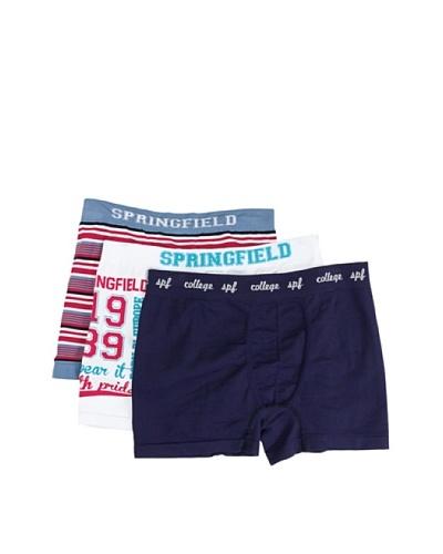 Springfield Pack De Tres Bóxers Sin Costuras Multicolor