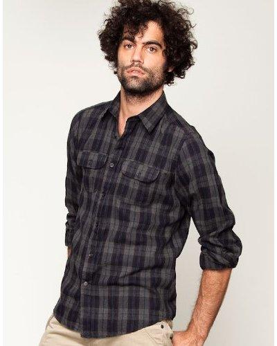 Springfield Camisa Gris / Negro