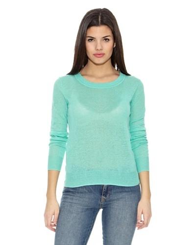 Springfield Jersey Bs-Round lino Sweater Aguamarina