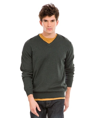 Springfield Jersey Liso Cashmere Verde Oscuro