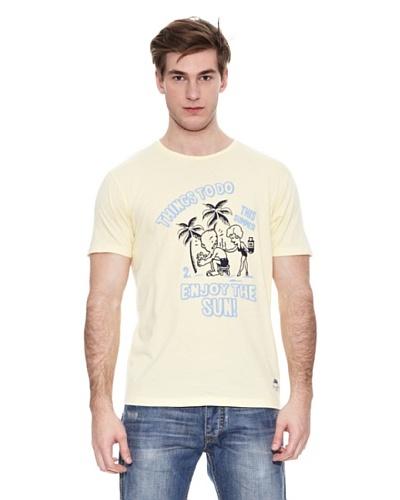 Springfield Camiseta S2 Comic Sun Amarillo Claro