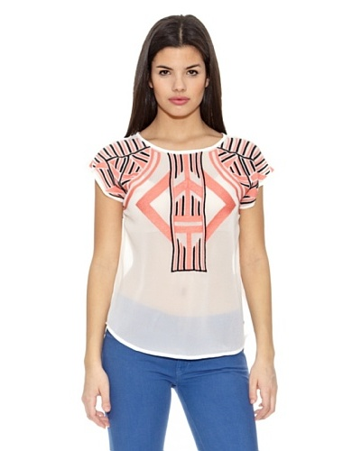 Springfield Blusa Etnic Embrodery Blouse